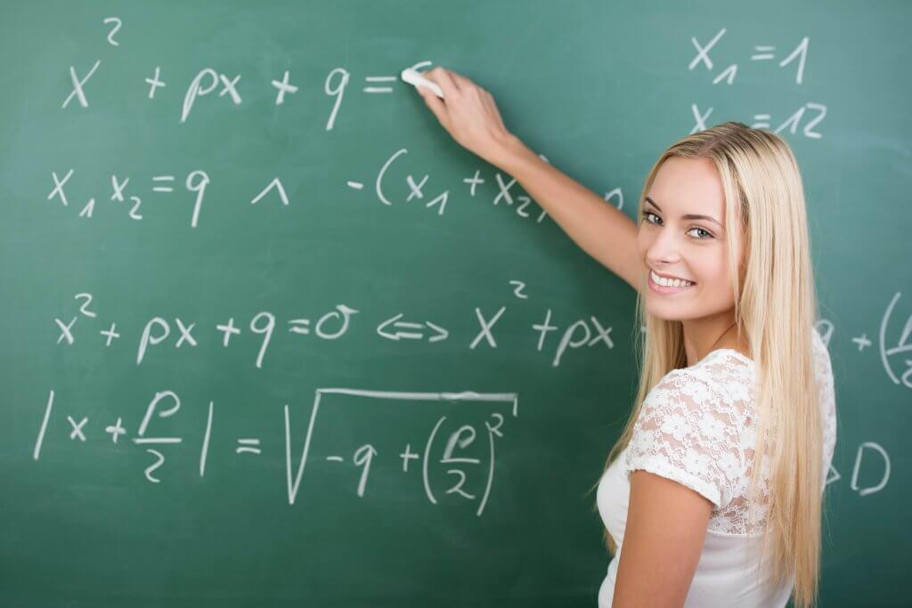 woman doing maths