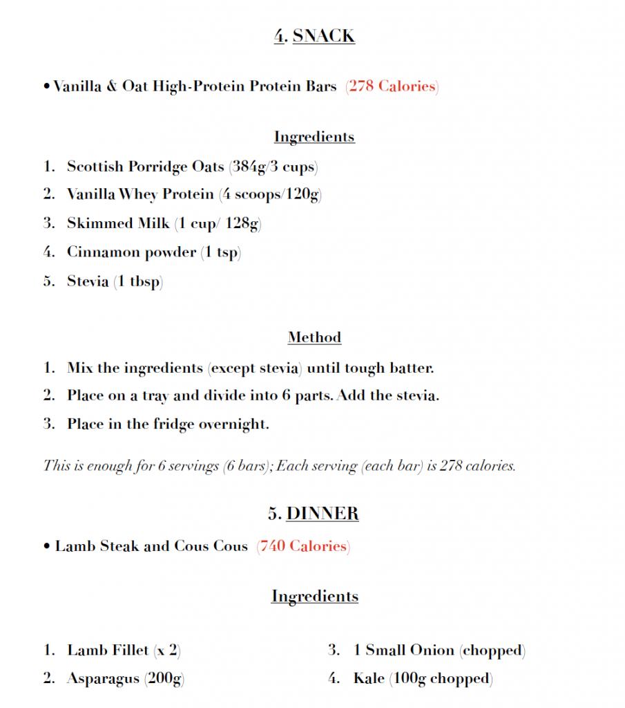 lean gains meal plans